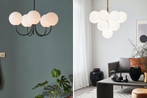 Lampy retro w nowoczesnym wnętrzu